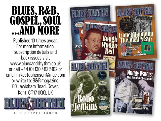blues and rhythm mag ad image