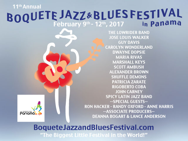 boquete jazz and blues fest ad image