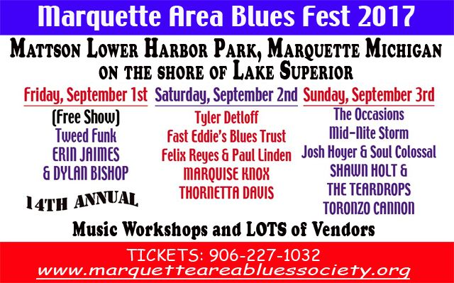 marquette area blues fest ad image