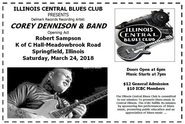 Illinois central blues club birthday bash ad image