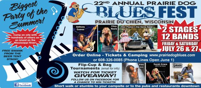 prairie dog blues fest ad image
